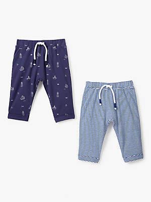 2fdc8efca John Lewis & Partners Baby GOTS Organic Cotton Nautical Leggings, ...