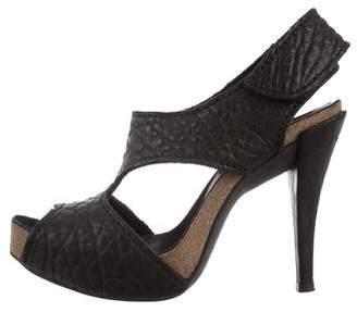 Pedro Garcia Leather Cutout Sandals