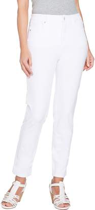 Isaac Mizrahi Live! Petite 24/7 Colored Denim 5-Pocket Ankle Jeans