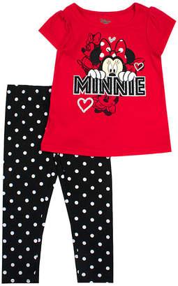 e1833903c5fca DISNEY MINNIE MOUSE Disney 2-pc. Minnie Mouse Legging Set-Toddler Girls