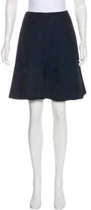 Alberta Ferretti Matelassé Knee-Length Skirt