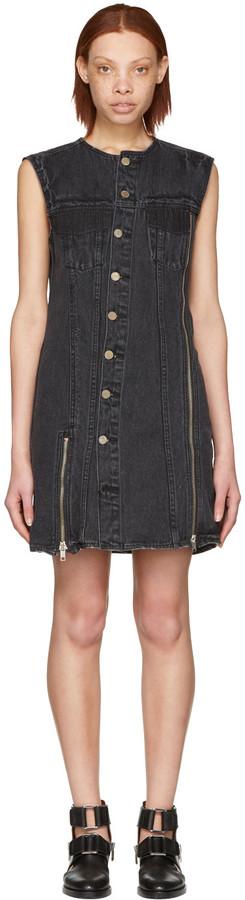 3.1 Phillip Lim3.1 Phillip Lim Black Asymmetric Denim Dress