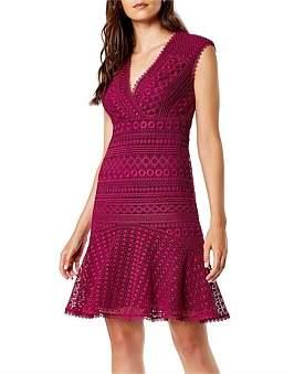 Karen Millen Lace Peplum Dress