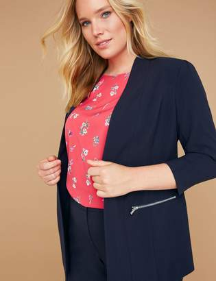 Lane Bryant Zip Pockets Tailored Stretch Jacket