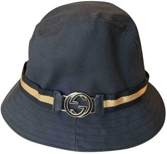 Gucci Vintage Blue Cotton Hats