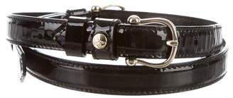 Burberry Patent Leather Buckle Belt