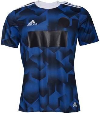 adidas Mens Tango 3 Stripe Climalite Cage Shirt Blue