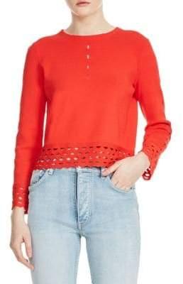 Maje Mariade Eyelet Sweater