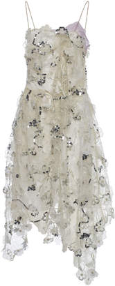 Preen by Thornton Bregazzi Tulip Embellished Silk Dress