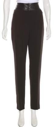 Akris Wool Skinny Pants Brown Wool Skinny Pants