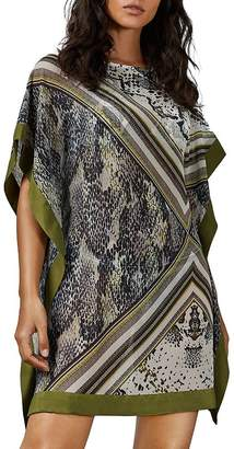 Ted Baker Berit Mixed-Print Swim Cover-Up
