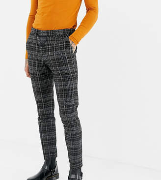 Heart N Dagger skinny suit pant in textured check