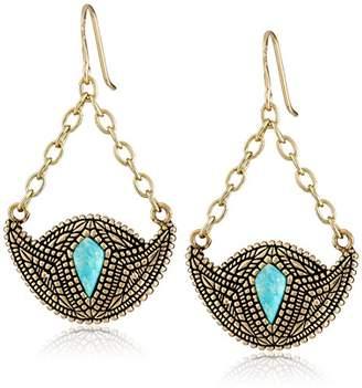 Barse Village Bronze-Color Crescent Drop Earrings