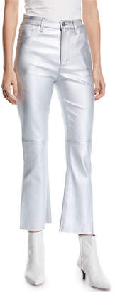 Current/Elliott The High Waist Kick Flare-Leg Leather Pants