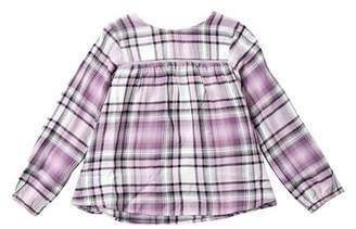 Joe Fresh Long Sleeve Metallic Woven Top (Toddler & Little Girls)