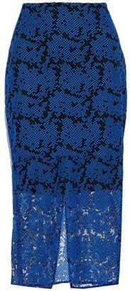 Diane von Furstenberg Embroidered Tulle Midi Skirt