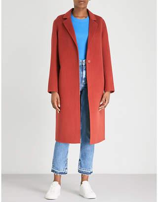 Sandro Longline wool-felt coat