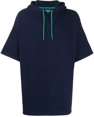 Benetton wide-sleeve oversized hoodie