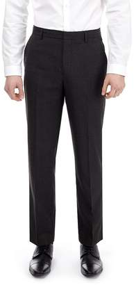 Burton Big & Tall Charcoal Tailored Fit Mini Check Trousers