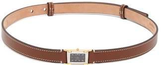 Burberry Faux Watch Leather Waist Belt - Womens - Tan