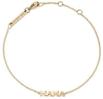 Rachel Zoe Zoë Chicco 14K Yellow Gold Tiny Capital Letter Mama Bracelet