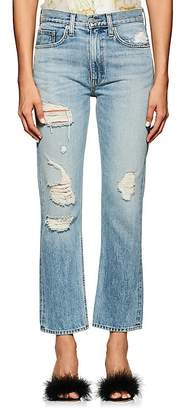 Brock Collection Women's Wright Distressed Straight Jeans