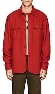 Rrl Men's Wool-Blend Shirt-Red Size S