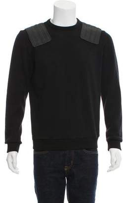 Tim Coppens Leather-Accented Wool Sweater