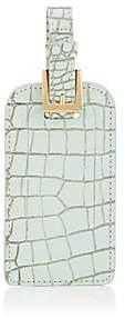Barneys New York Men's Crocodile-Embossed Leather Luggage Tag-Light, Pastel green