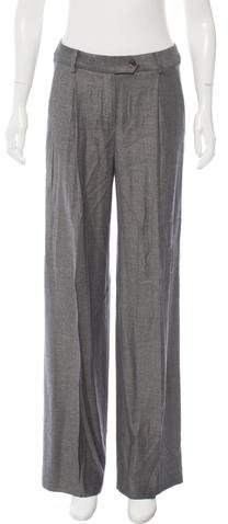 Christian Dior Virgin Wool-Blend High-Rise Pants