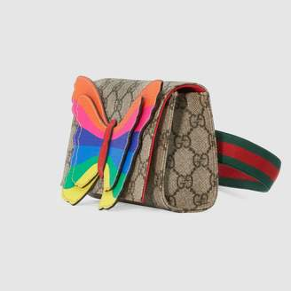a60744d78f9 Gucci Children s GG belt bag with rainbow butterfly