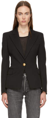Balmain Black Classic Single-Button Blazer