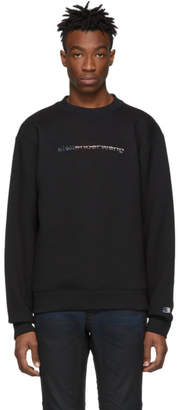Alexander Wang Black Dense Fleece Logo Sweatshirt
