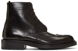 Saint Laurent Black Army Brogues Boots