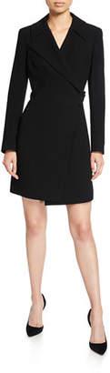 Elie Tahari Charlotte Long-Sleeve Mini Dress with Notch Collar