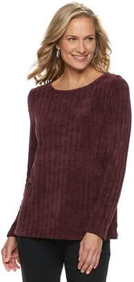 Dana Buchman Women's Scoopneck Chenille Sweater
