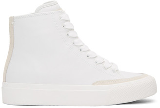 Rag & Bone White RB High-Top Sneakers