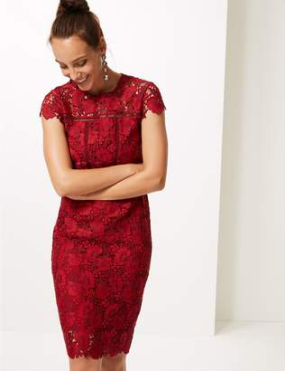Marks and Spencer Lace Cap Sleeve Bodycon Dress