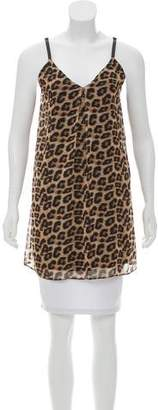 Alice + Olivia Leopard Sleeveless Top