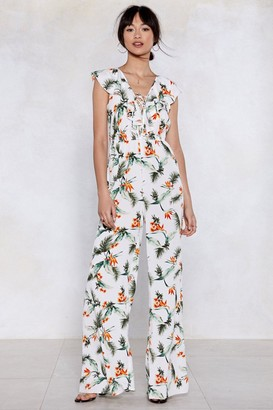 Nasty Gal Plant Touch This Palm Jumpsuit