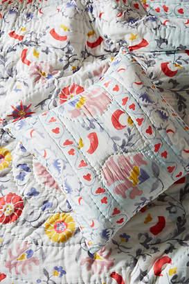 Anthropologie Artisan Quilts by Viviana Euro Sham