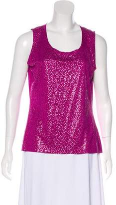 St. John Embellished Sleeveless Top w/ Tags