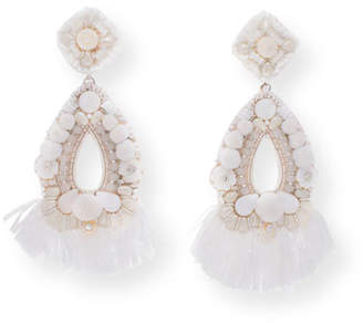 Ranjana Khan Simone Beaded Statement Clip-On Earrings