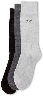 DKNY 3-Pack Heathered Crew Socks