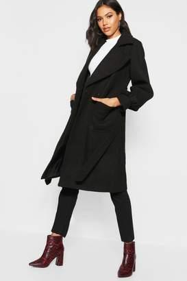 boohoo Oversized Sleeve Wool Look Coat
