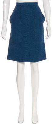 Etoile Isabel Marant Quilted Denim Knee-Length Skirt