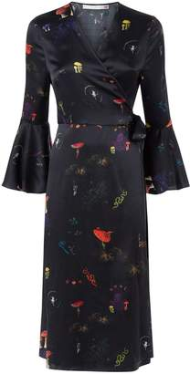 Klements - Netil Wrap Dress In Kosmos Print