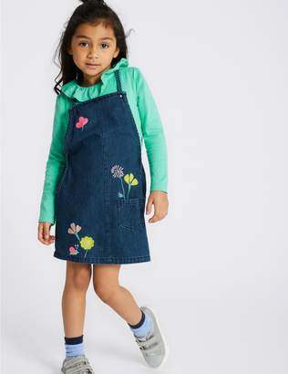 Marks and Spencer 2 Piece Pinafore & Top Outfit (3 Months - 7 Years)
