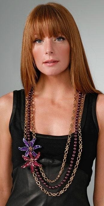 Kenneth Jay Lane Multi Flower Necklace