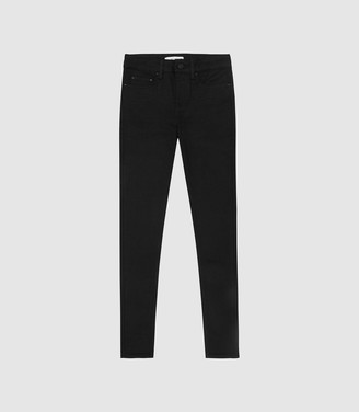 Reiss Lux - Mid Rise Skinny Jeans in Black